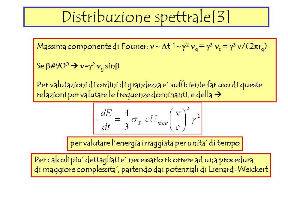 Distribuzione spettrale[3]